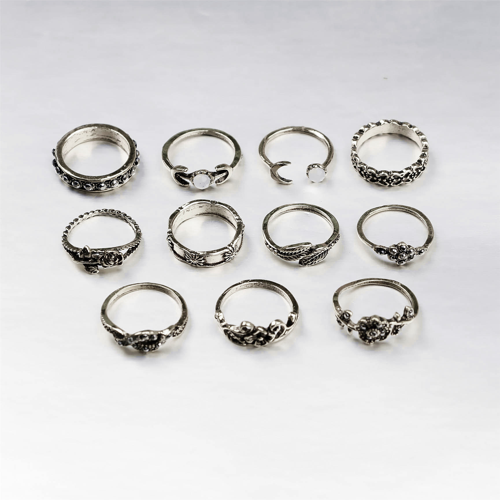 folk-custom alloy plating Ring (Ancient silver)NHGY0598-Ancient silver