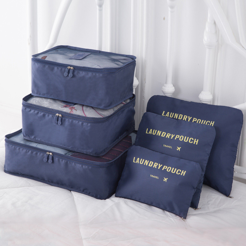 Travel Oxford Cloth Six-piece Suit Storage Bag