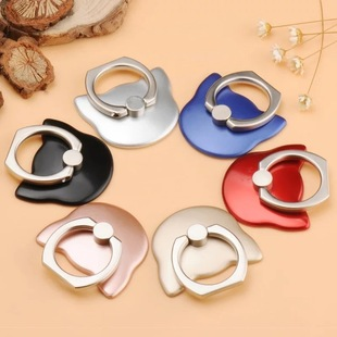 Mobile phone ring bracket creative cat head ring buckle car rotating anti-fall lazy ring buckle bracket