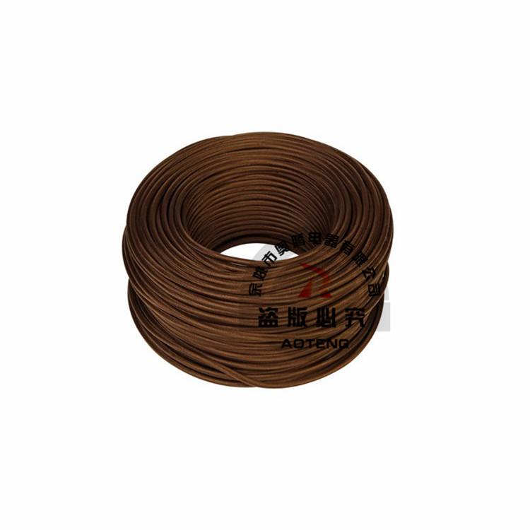 硅胶电线 彩色编织 欧规 VDE彩色编织线 H03VV-F 2*0.75平方
