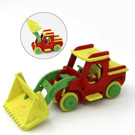Children's puzzle play house toy Environmental manual manual car model diy creative wooden puzzle toy