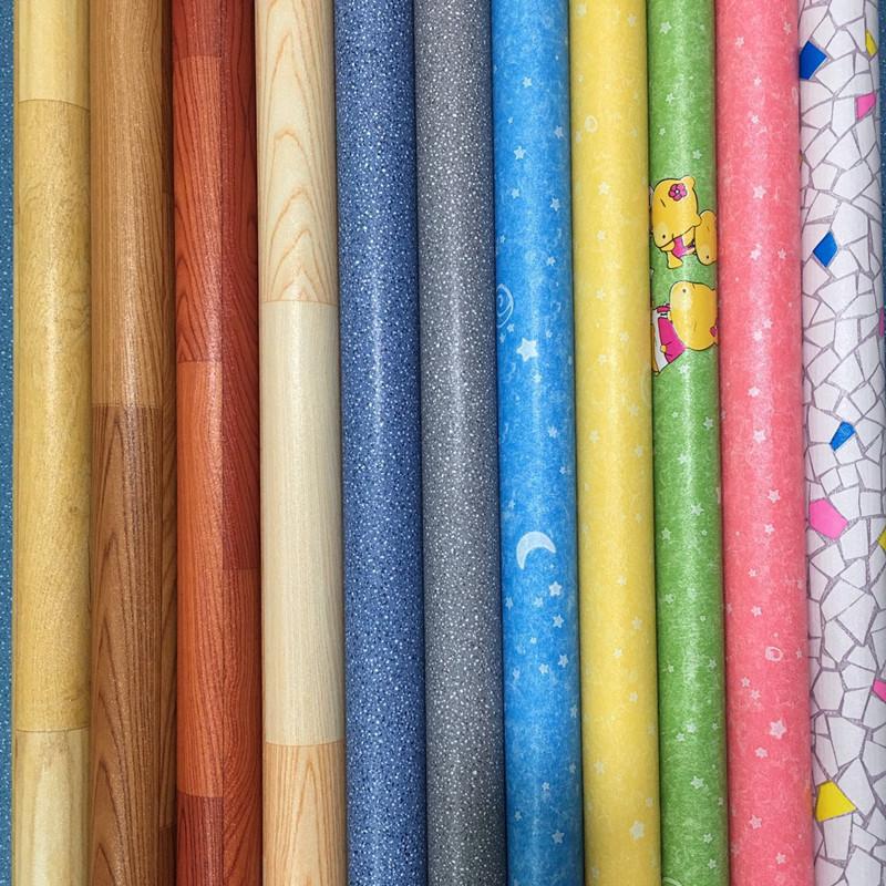 家用加厚PVC地板革塑胶防水防滑地板仿木地板耐磨卧室地毯批发