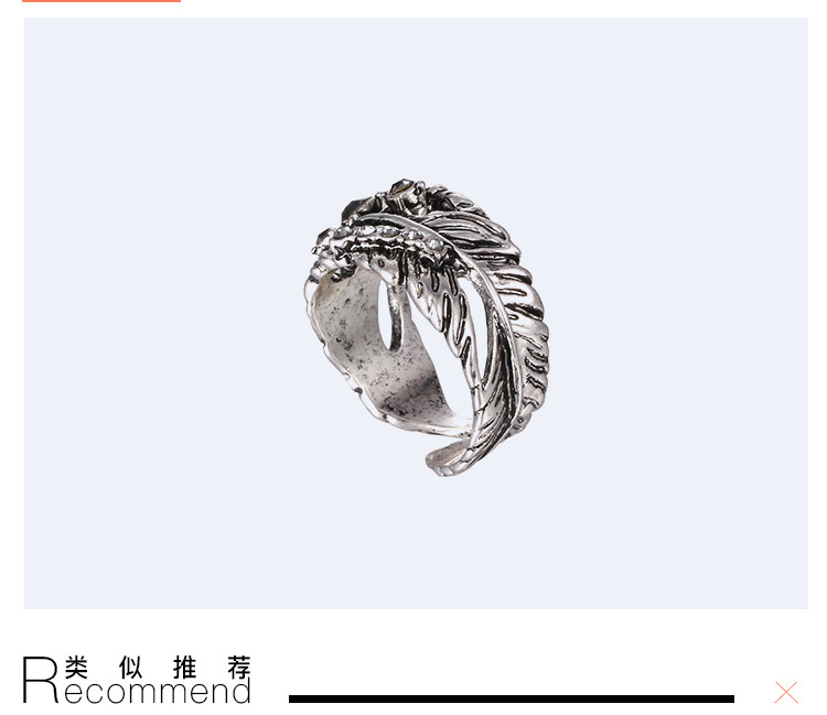 Retro alloy Diamond Ring (Ancient silver)NHNTF1284-Ancient silver