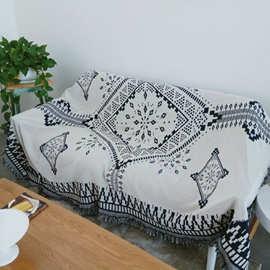 北欧沙发巾客厅休闲沙发垫毯子民族风床尾毯挂毯ins流行复古毯