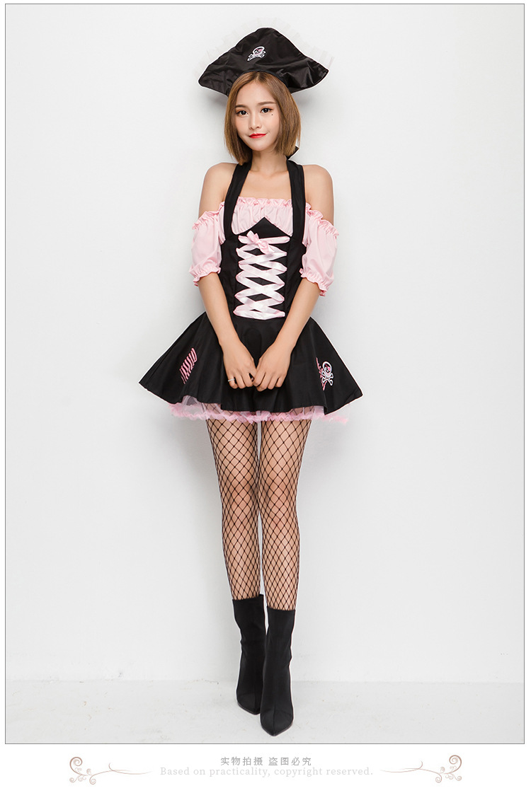 Halloween Cosplay Witch Costumes Pink Witch Costume NHFE155303
