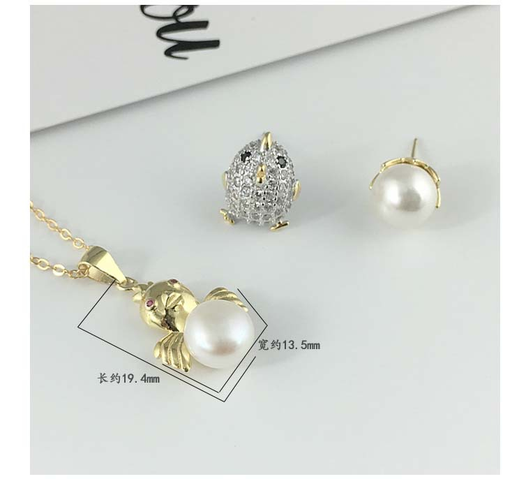 Silver Fashion Animal necklace(Single pendant white gold) NHDY0291-Single pendant white gold