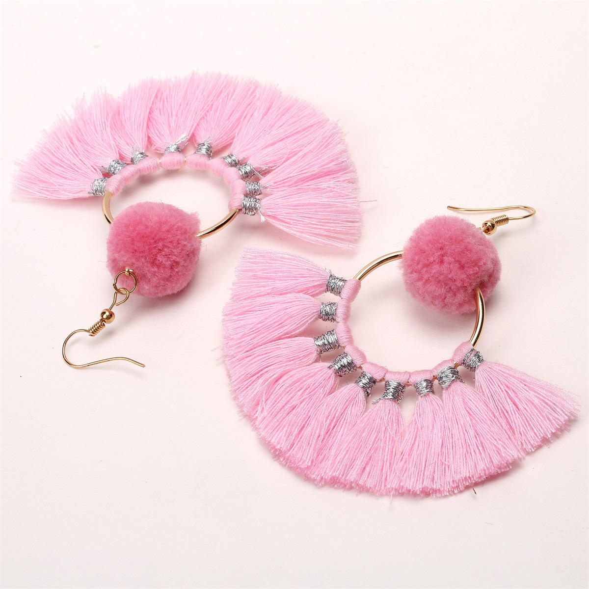 Retro Clothearring (Pink)NHXR1510-Pink