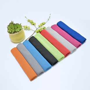 High-end two-color double-layer outdoor sports cold towel summer cold towel cold cooling quick-drying towel wholesale