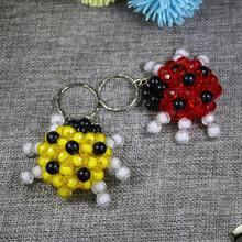 创意手工钥匙挂件串珠编织成品卡通瓢虫小礼品汽车钥匙环包包挂件