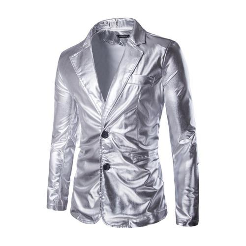 men's jazz performance suit blazers groomsmen jacket Men's hot gold bright face coat men's pure performance suit small suit men's coat