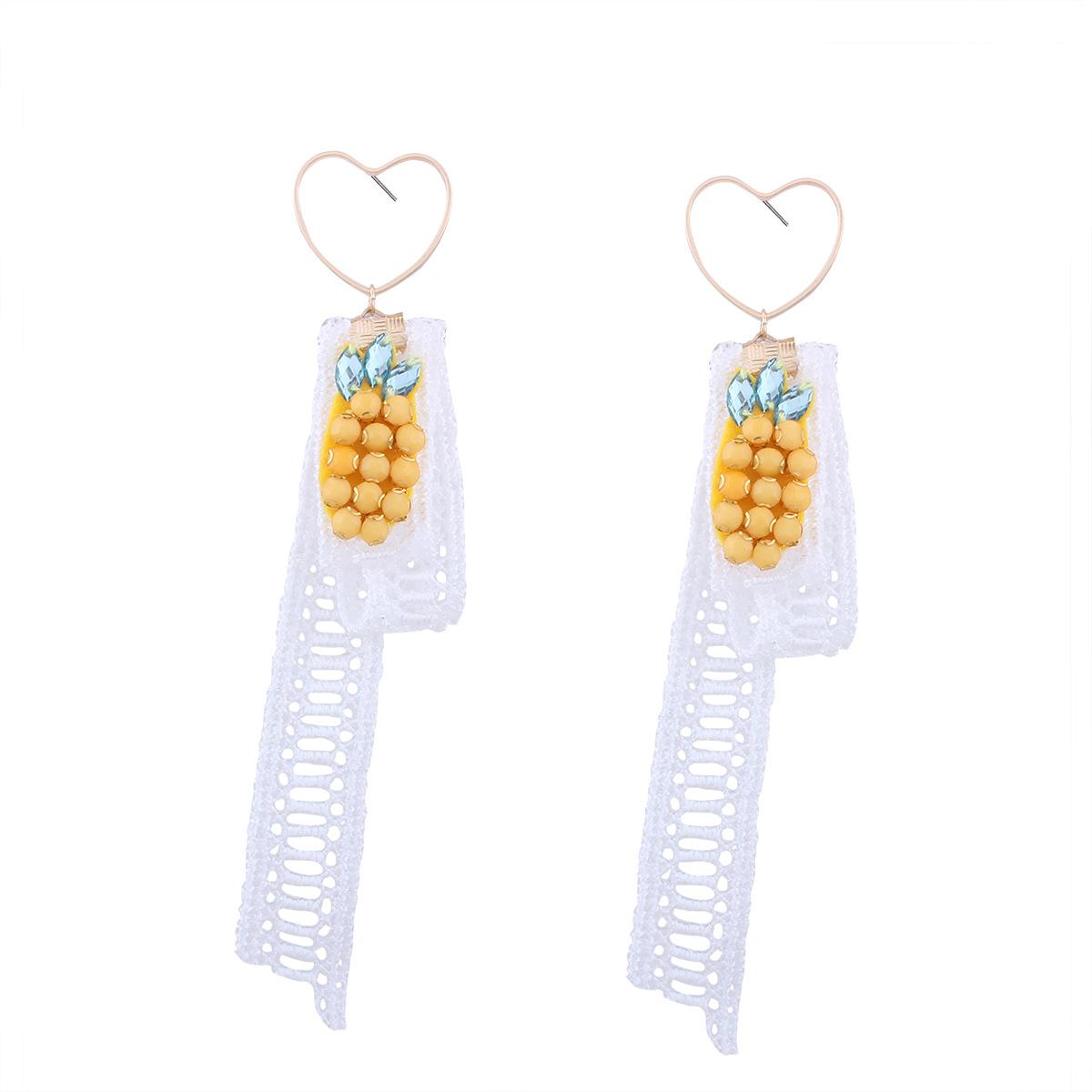 Korea style alloy Diamond earring (white)NHNMD3752-white