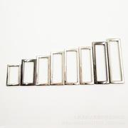 锌合金挂镀带弧度金属口字扣  调节二档钎子 现货批发