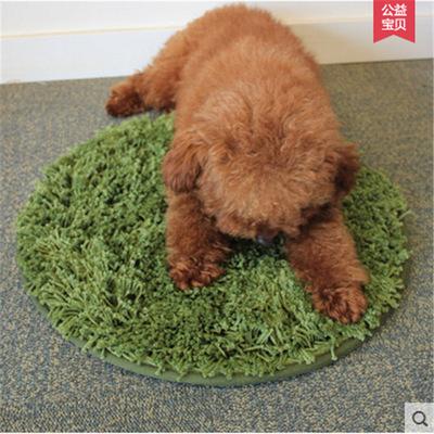 日本乐天货源 素色丝毛小垫子 简约圆形宠物垫可水洗支持代发