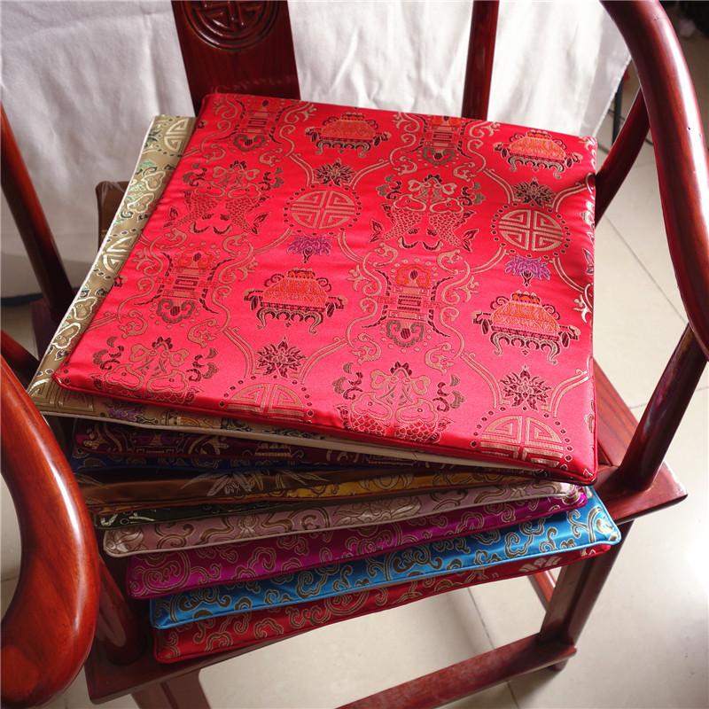 中式红木实木沙发坐垫茶椅餐椅坐垫圈椅古典高密度海绵垫座定订做