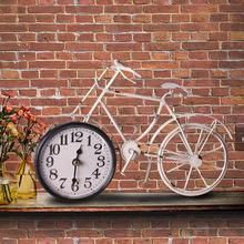 歐式復古風格裝飾壁飾掛鐘 客廳創意自行車裝飾墻飾背景clock