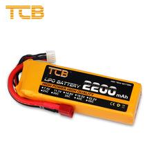 厂家批发TCB航模锂电池35C高倍率2200mAh2S3S4S11.1V遥控飞机电池