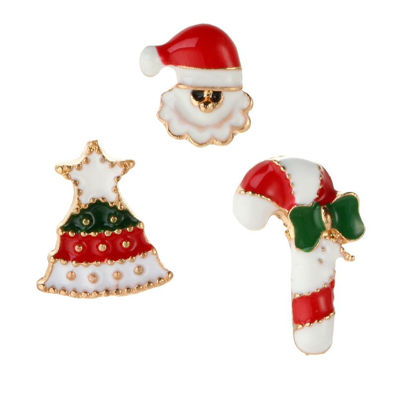 Creative Christmas Snowman Crutches Alloy Brooch NHGY171259