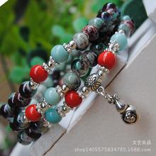 景德镇饰品批发民族风108念佛珠陶瓷手链三圈多用手串转运手珠
