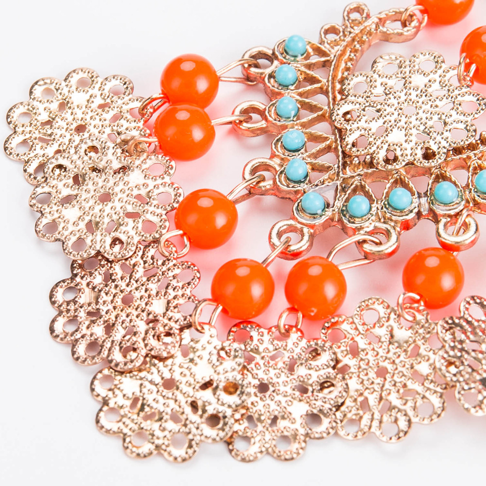 Exotic alloy plating earring (Orange)NHJE0483-Orange