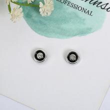 新款時尚特價圓形滴油吸鐵石耳環磁性耳釘無耳洞強磁磁力男女通用