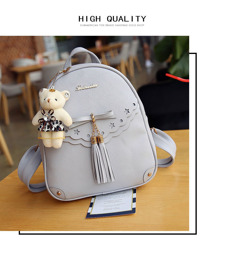 Korean version PUShoulder bag (gray)NHPB0452-gray