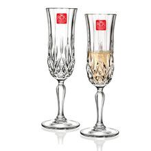 意大利进口RCR无铅水晶玻璃香槟杯甜酒杯气泡酒杯130ml