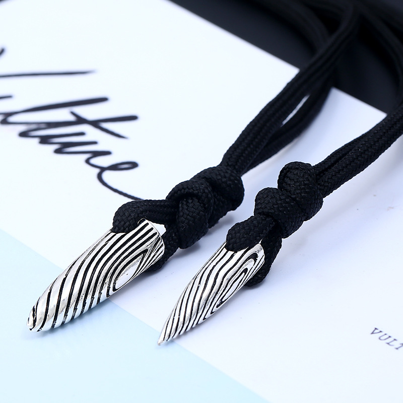 Simple alloy plating necklace (Trumpet flower rope)NHNPK0893-Trumpet flower rope