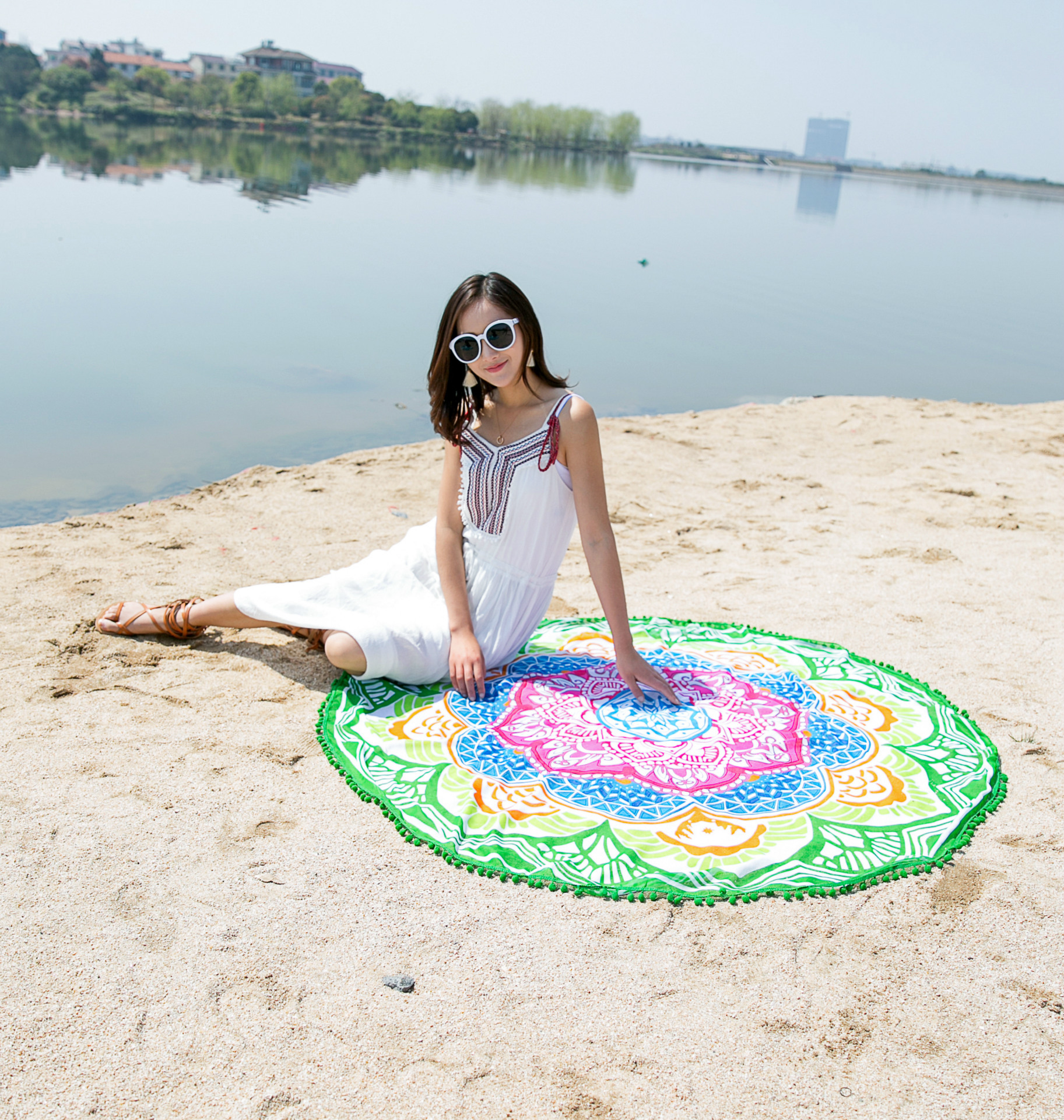 Velvet chiffonBeach towel (Main color)NHYC0580-Main color