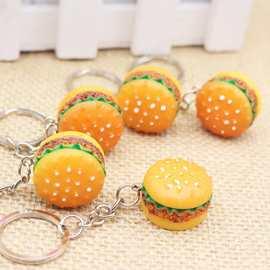 仿真点心甜点食品食物汉堡包蛋糕钥匙扣挂件开业活动小礼品批发
