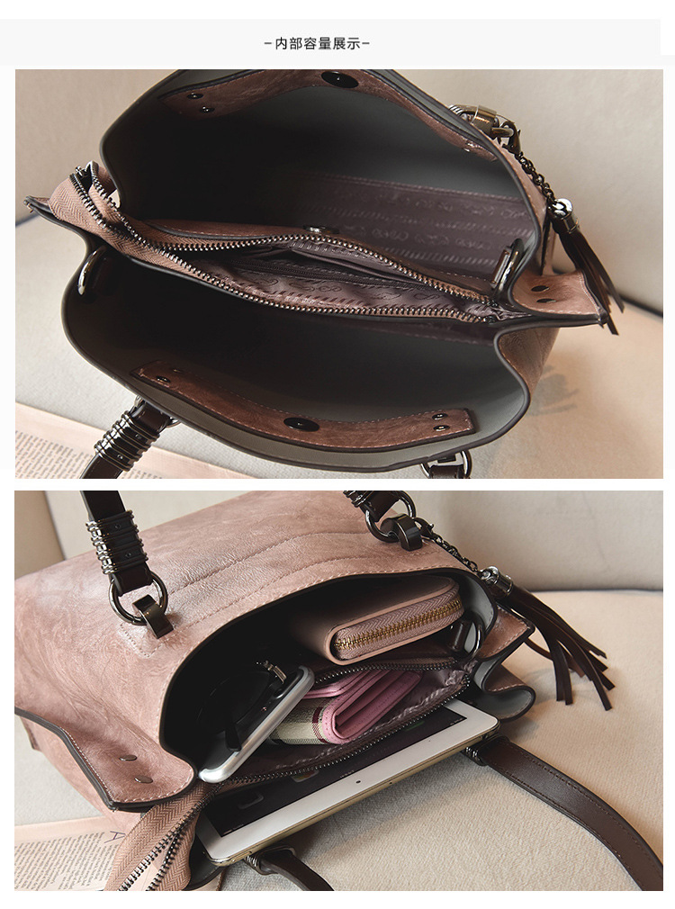 Korean version PUShoulder bag (Pink)NHPB0284-Pink