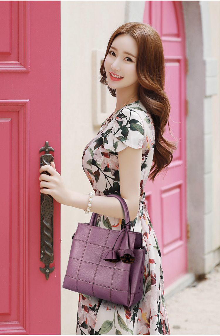Korean version PUShoulder bag (Taro purple)NHPB0330-Taro purple