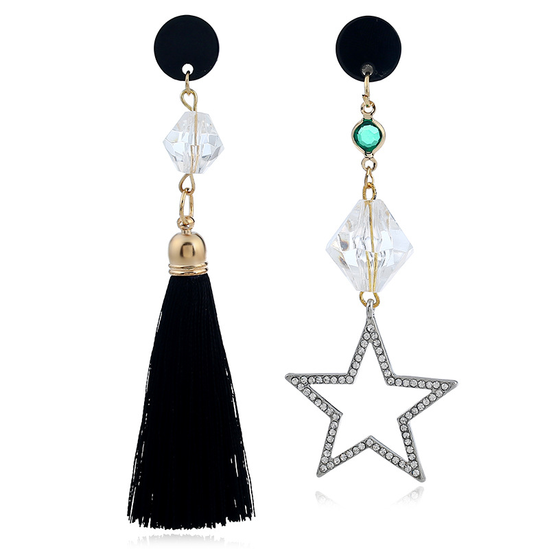 Occident and the United States alloy plating earring (black)NHVA4524-black