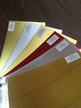 厂家批发铝箔印刷纸 250克白卡pet涤纶纸 AL铝箔金卡纸 复合纸