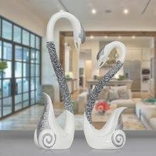 荔姿欧美家居装饰品摆件 情侣仙鹤创意树脂工艺品加工定制批发