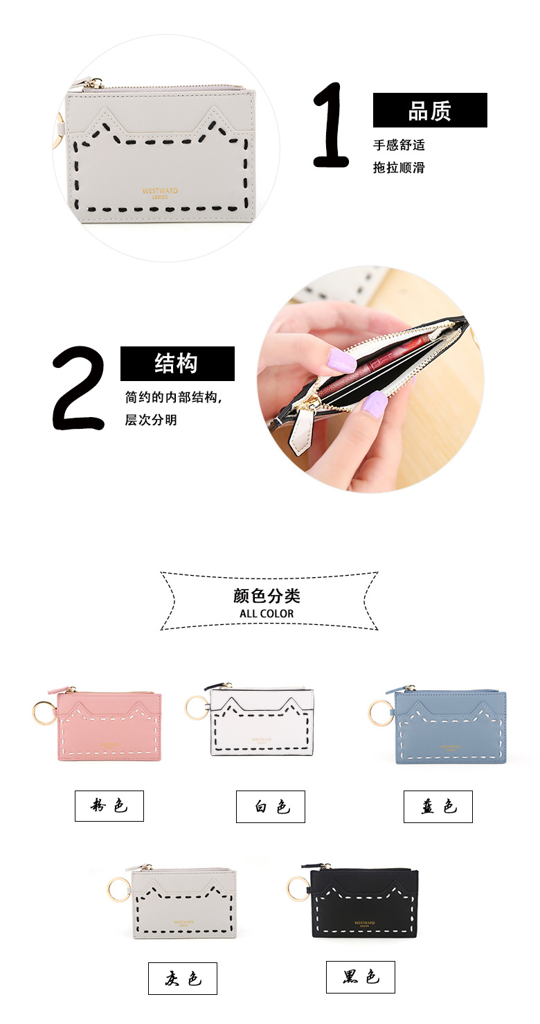 Small fresh PU leather  wallet (gray)  NHNI0303-gray