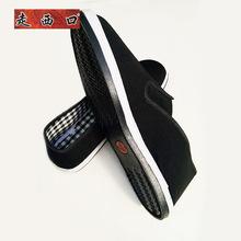 厂家直销千层底布鞋光面松紧口布鞋三层鞋垫耐磨橡胶底工作布鞋