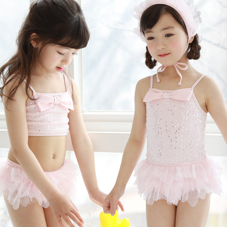cbd7cf5ad8 Korean children swim clothes girl girl swimsuit lace skirt baby one piece  skirt small middle boy
