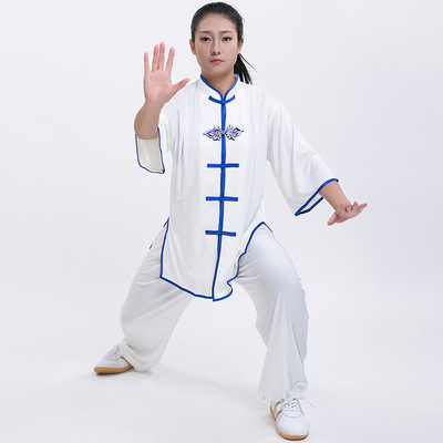Short sleeves tai chi clothing for women and men morning training suit sleeve martial arts performance costume Taiquan Costume