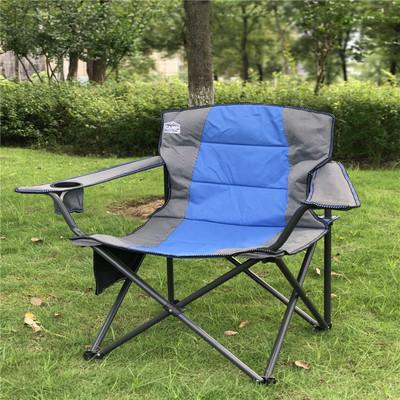 户外便携折叠钓鱼椅 大号加棉扶手椅 露营烧烤凳 靠背休闲沙滩椅