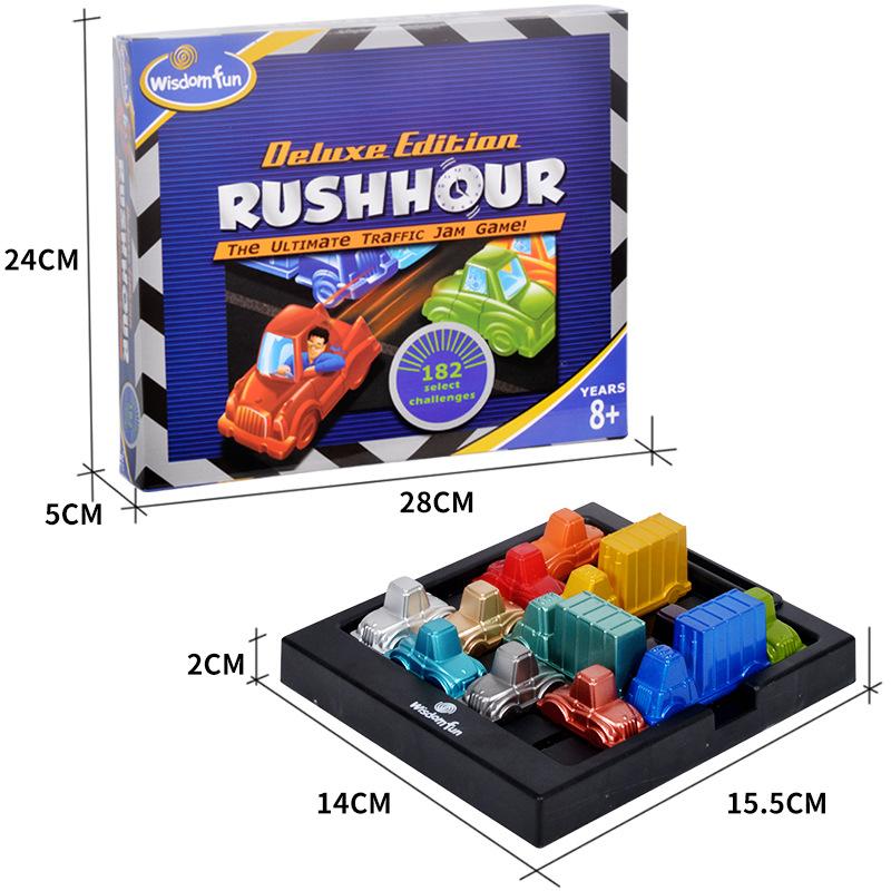 Сша пробка автомобиль время высокий пик время игра ребенок мышление логика редактировать через выключить игра головоломка интеллект игрушка стол тур