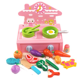Simulation cartoon modeling kitchen stove cooking magnetic cut to see children play house puzzle simulation toy