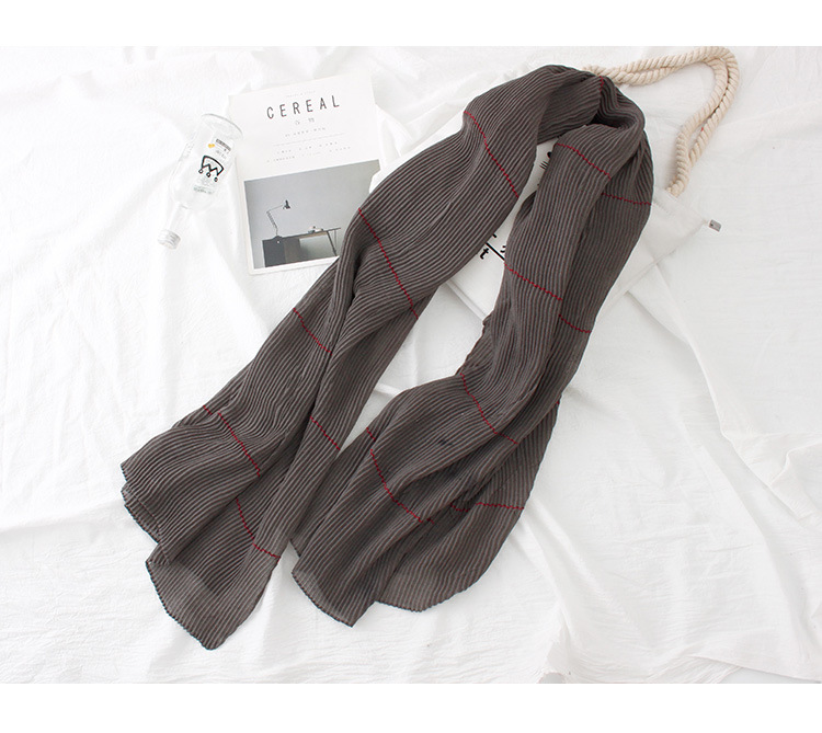Japan and South Korea sweet CottonPolyester scarf (Dark red)NHNBS1806-Dark red