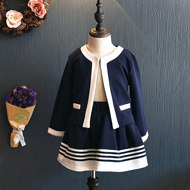一件代发代销代理女童韩版童装春款套装小孩衣服2021新款F057 GG