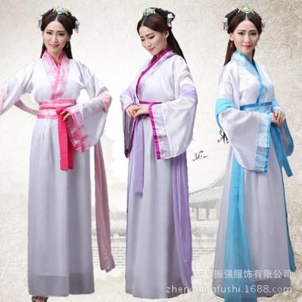 古装女唐装汉服正规双绕曲裾表演服写真仙女襦裙成人礼演出服服装