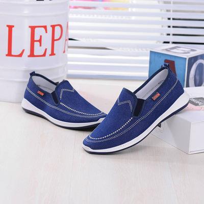 2017 mùa hè mới của Hàn Quốc xu hướng denim giày vải của nam giới thường giày một bàn đạp giày thể thao nam giày bán buôn