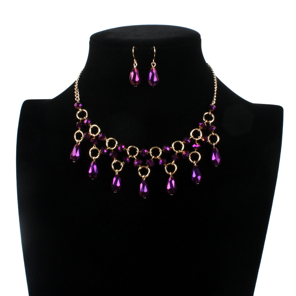 Occident and the United States Glassnecklace (purple)NHCT0103-purple