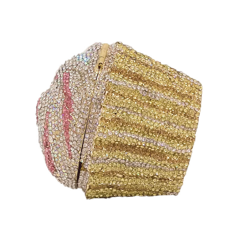 New Fashion Metal Diamond Diamond Dinner Bag Cake Diamond Bag Banquet Bag Clutch Evening Bag NHJU208590