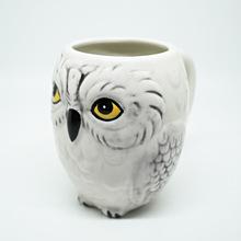 貓頭鷹馬克杯  3D立體造型貓頭鷹陶瓷杯 咖啡杯創意辦公室杯