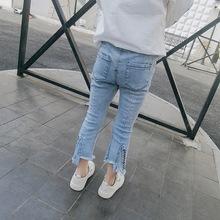 童裝女童春裝2018韓版新款洋氣牛仔褲寶寶春秋褲子百搭修身長褲潮