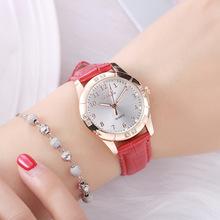 韩版时尚腕表潮流学生手表女士防水皮带休闲水钻夜光石英女表